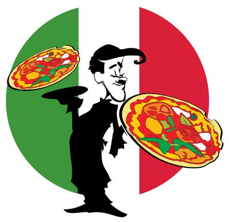 catering: job series - pizzaiolo Illustration