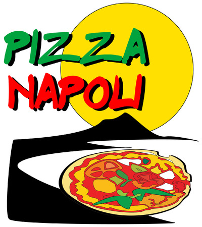 take away: pizza napoli Illustration