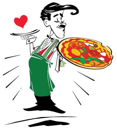 job series - pizzaiolo Illustration