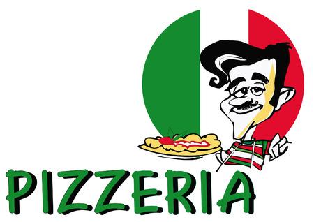 pizza man: job series - pizzaiolo Illustration