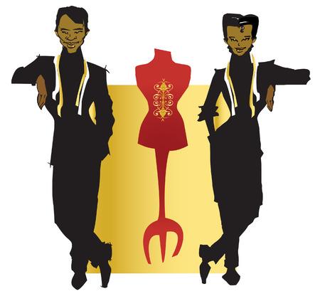 job series - tailor and dressmaker Stock Vector - 2044906