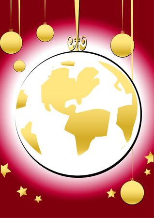 golden years series: christmas series - globe Illustration