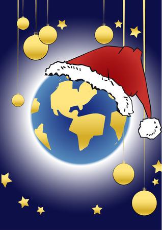 christmassy: christmas series - globe Illustration