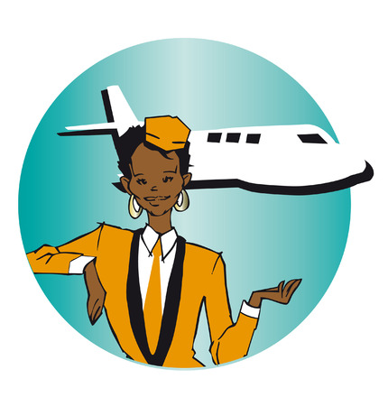 job series - stewardess Vector