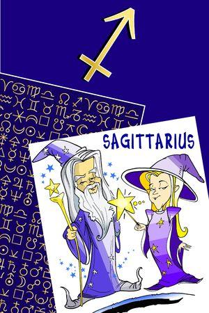 fisch: zodiac series - sagittarius Stock Photo