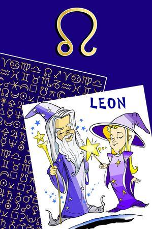 fisch: zodiac series - leon Stock Photo