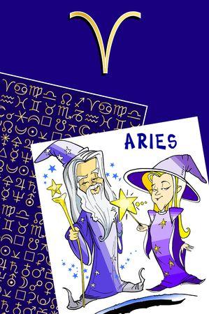 fisch: zodiac series - aries Stock Photo