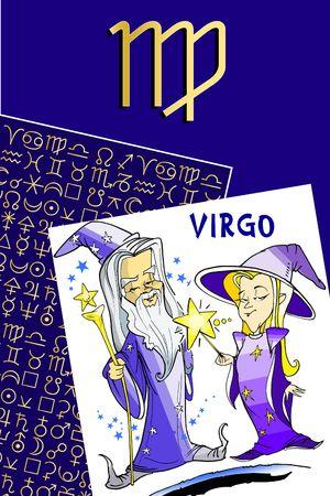 fisch: zodiac series - virgo Stock Photo
