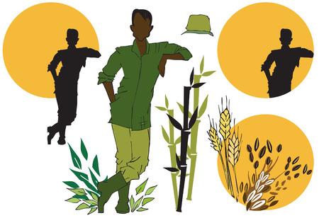 job series - agriculturist Vector