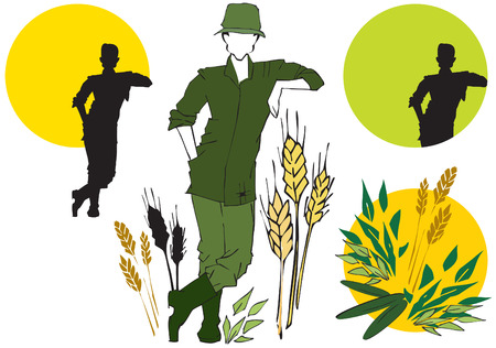 job series - agriculturist Vector