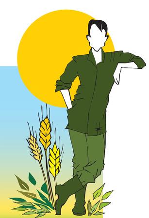 job series - agriculturist Stock Vector - 2862024