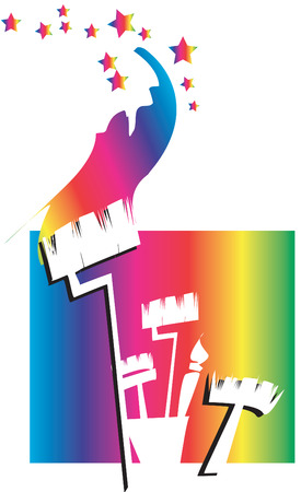 job series - housepainter logo Stock Vector - 2862017