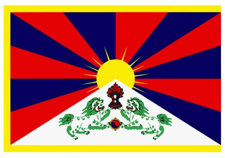 blank signal series - tibet flag Vector