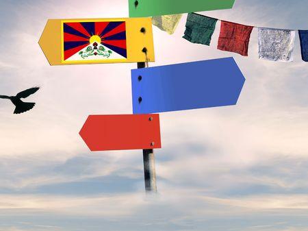nonviolence: blank signal series - tibet