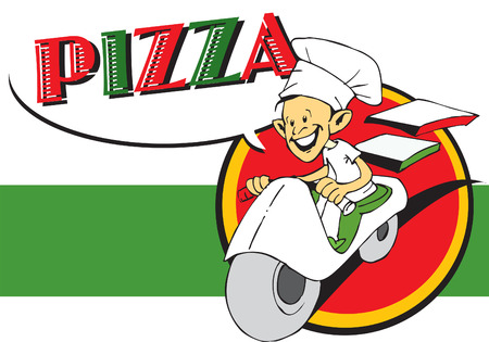 job series - pizzaiolo and pizza Vector