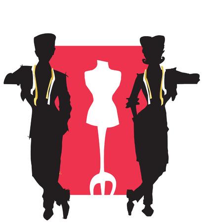 job series - tailor stylist Illustration