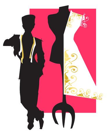 costumer: job series - tailor stylist Illustration