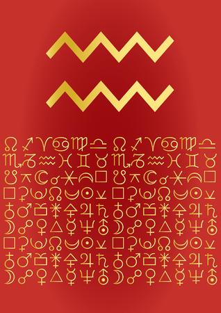 zodiac series - aquarius Vector