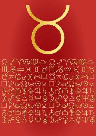 zodiac series - taurus Vector