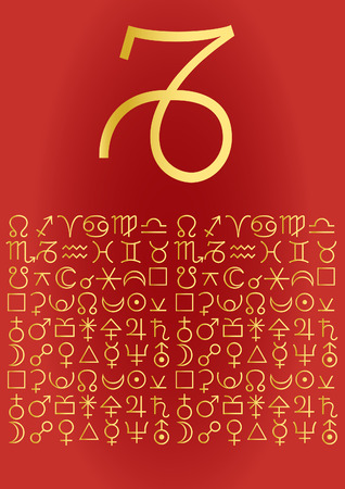 zodiac series - capricorn Vector
