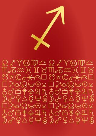 zodiac series - sagittarius Vector