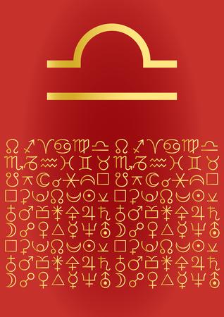 zodiac series - libra Vector