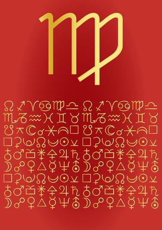 zodiac series - virgo Vector