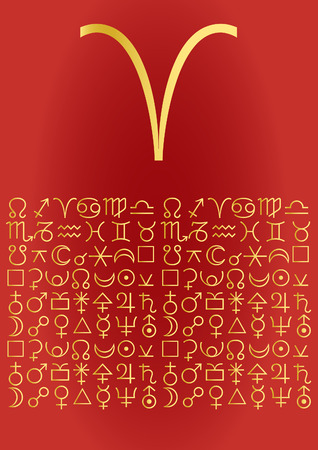 zodiac series - aries Vector