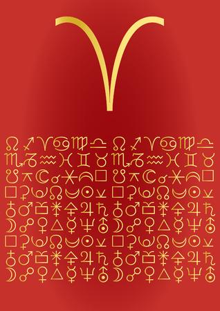 fisch: zodiac series - aries Illustration