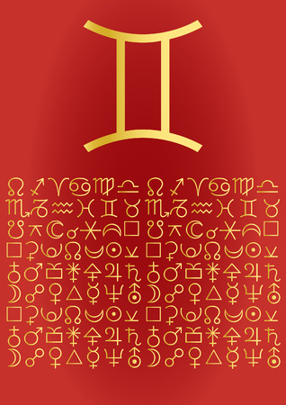 signes du zodiaque: Zodiac s�rie - Gemini  Illustration