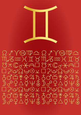zodiac series - gemini Vector