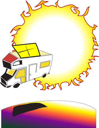 voltaic: ecology series - solarpanel Illustration