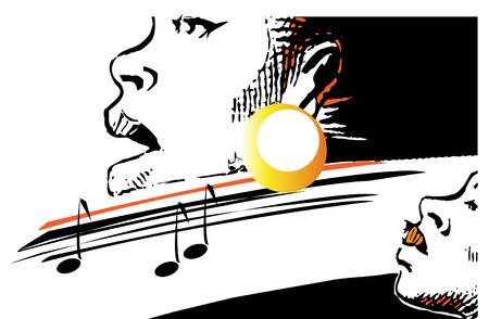 music series - jazz gospel Illustration