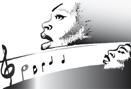 gospel music: music series - jazz gospel Illustration
