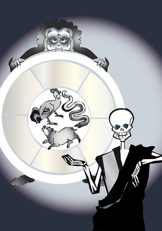 Dead series - rebirth circle Vector