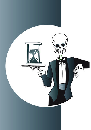 depart: death series - waiter Illustration