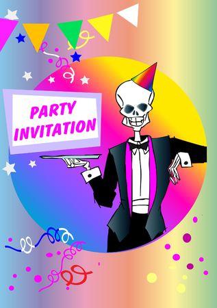 perish: death series - party invitation