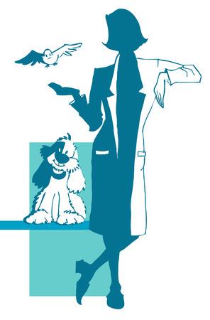 logo medicina: serie de empleo - veterinarios o de otros ...