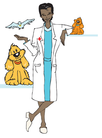 nonviolence: job series - veterinary or other... Illustration