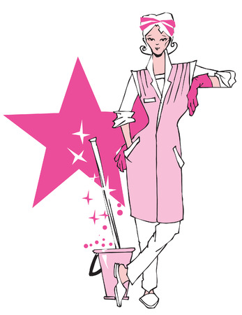 femme nettoyage: s�rie d'emplois - Cleaner