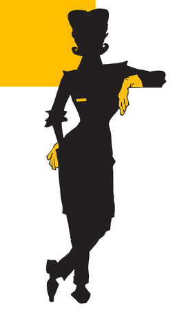 cleaning woman: job series - cleaner Illustration