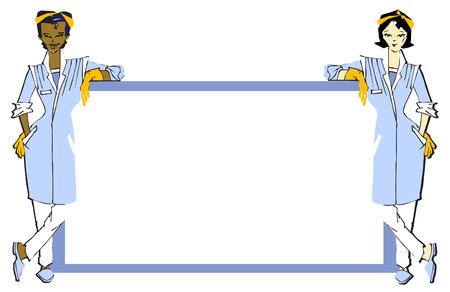 job series - cleaner Illustration
