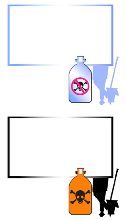 job series - cleaner and dangerous products Vector