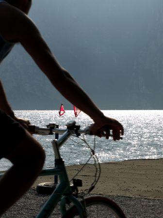 landscapes series - cycle on Garda lake, Italy      photo