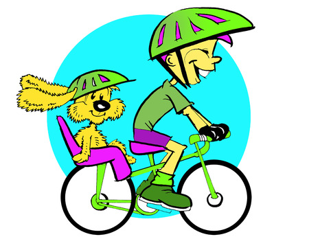 sport series - boy and cycle  vector Vector