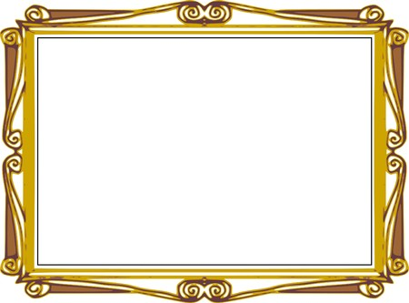 Background Series Hand Draw Frame Comics Cartoon Style Stock Photo