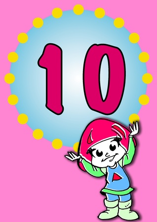 illustration for a birthday Stock Illustration - 10255409
