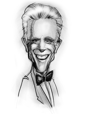 ted: Hand-draw caricature from Ted Danson