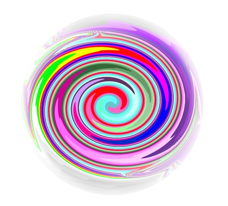 White Background and illustration of abstract Mandala