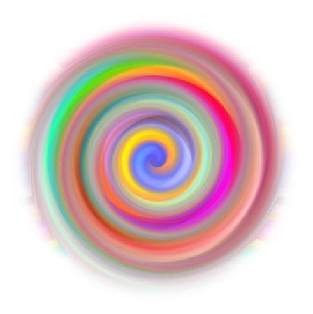 meditation isolated white: White Background and illustration of abstract Mandala